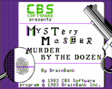 Murder By The Dozen Loading Screen For The Apple II