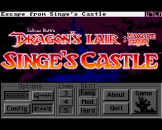 Dragon's Lair: Escape From Singes Castle Loading Screen For The Amiga 500